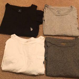 Assortment of men's polo Ralph Lauren shirts